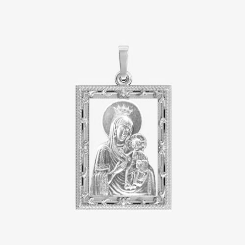 Ладанка серебряная Богородица ЛП-72