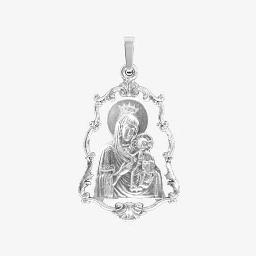 Ладанка серебряная Богородица ЛП-73
