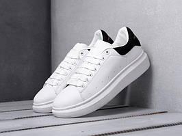 Кроссовки Alexander McQueen White Black (Александр Маквин белые с черным) женские и мужские размеры 36-44