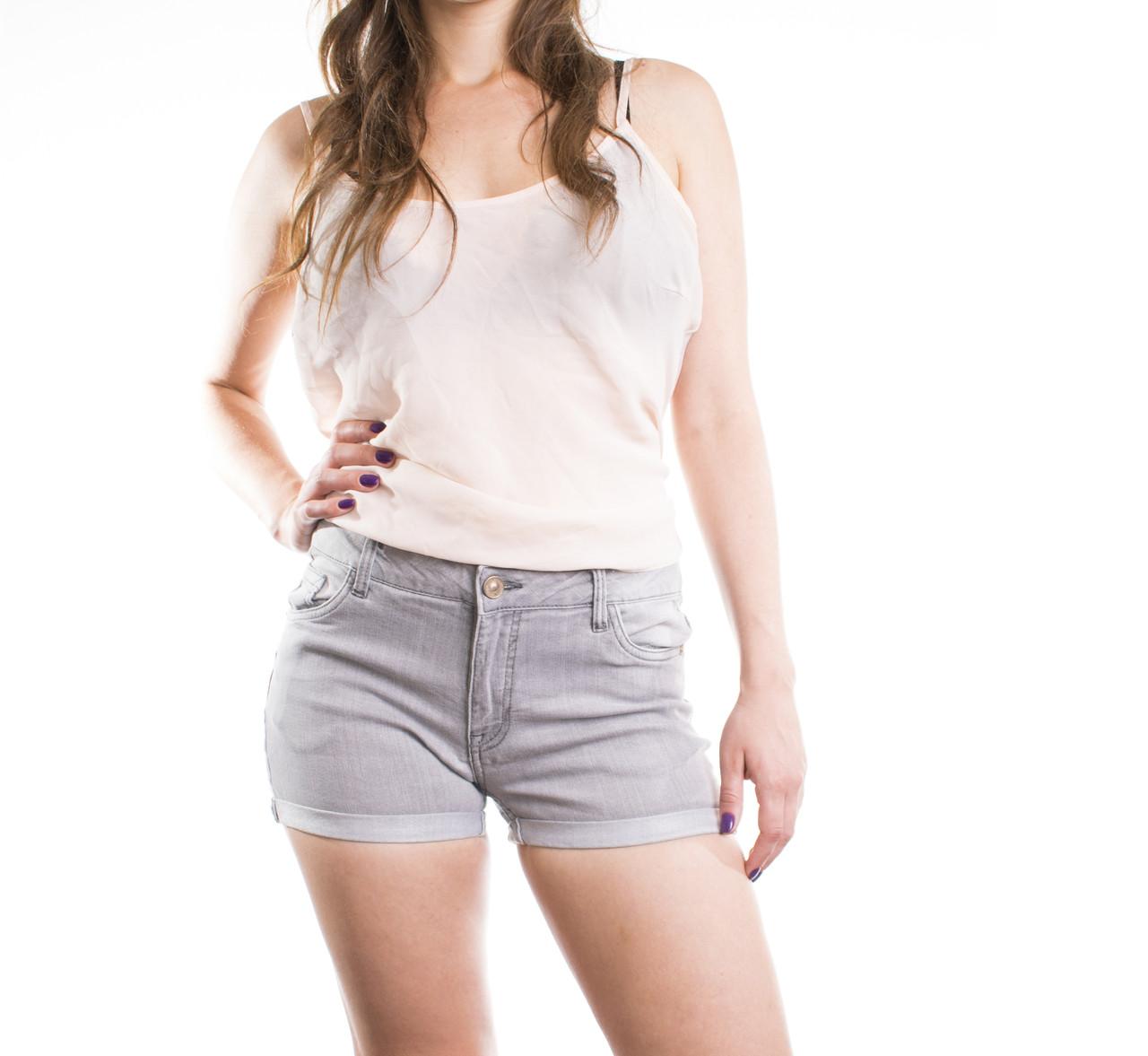 Шорти джинсові жіночі сірі