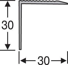 Порожки для ступеней алюминиевые анодированные 30х30 серебро 2,7м, фото 2