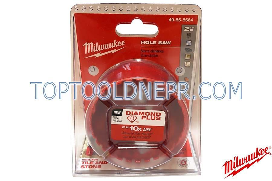 Коронка Bi-Metal 68мм Milwaukee Diamond Plus