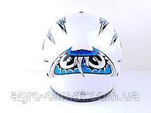 Шолом для мотоциклів Hel-Met 150 білий з синім, фото 2