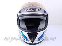 Шолом для мотоциклів Hel-Met 150 білий з синім, фото 3