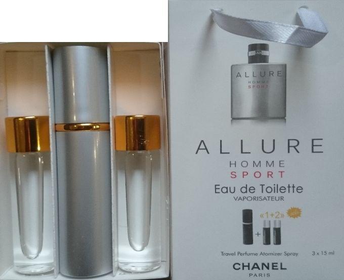 Духи мужские 3в1 Chanel Allure homme sport копия (Шанель Алюр Хом Спорт)
