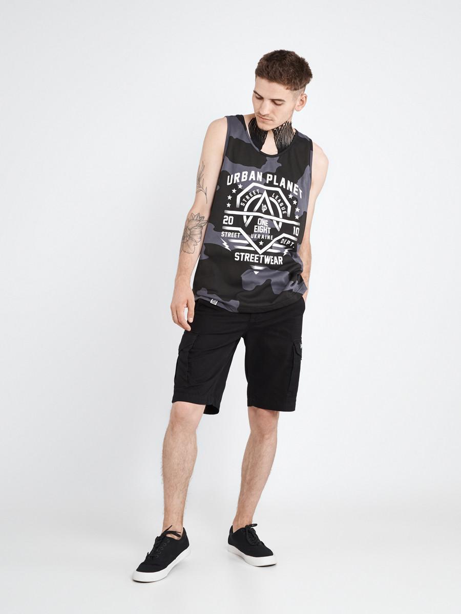 Майка мужская камуфляж CAMO S Urban Planet (футболки, чоловіча майка,