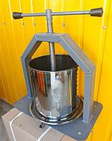 Пресс винтовой для сока. Объем 15 литров. Усиленная платформа.