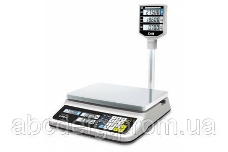 Весы торговые CAS PR-15 II P (RS232) со стойкой