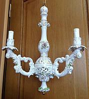 Антикварная фарфоровая люстра ночник старинный светильник бра торшер антикварная лампа старинные люстры