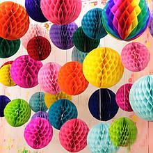 Бумажные шары, помпоны, шары-соты, для декора помещений