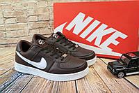 Кроссовки мужские Nike Air Force  молодежные  (коричневые), ТОП-реплика, фото 1