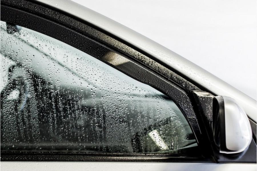 Дефлекторы окон ветровики на VOLKSWAGEN Фольксваген VW Golf VI 2008-> 3D / вставные, 2шт /