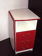 """Манікюрний стіл M100K зі складаним стільницею """"Естет компакт"""" червоний"""