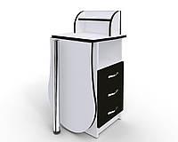 """Маникюрный стол-трансформер M103K """"Эстет компакт №3"""" белый с черными фасадами, фото 1"""