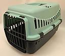 Переноска для собак и кошек Gipsy Small пластиковая дверь голубая, фото 2