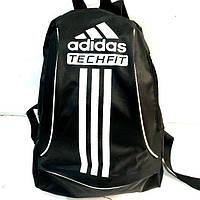 Дешевые рюкзаки спорт стиль Adidas плащевка (черный+бел)24*33, фото 1