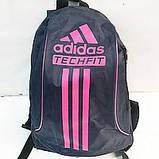 Дешевые рюкзаки спорт стиль Adidas плащевка (синий+бел)24*33, фото 6