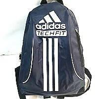 Дешевые рюкзаки спорт стиль Adidas плащевка (синий+бел)24*33, фото 1