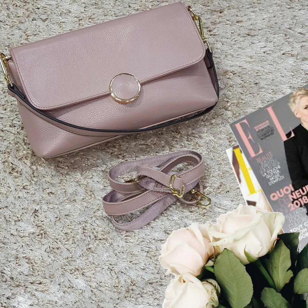 Женская маленькая сумка розовая