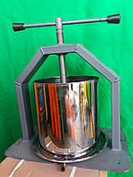Пресс винтовой для сока. Объем 10 литров. Усиленная платформа.