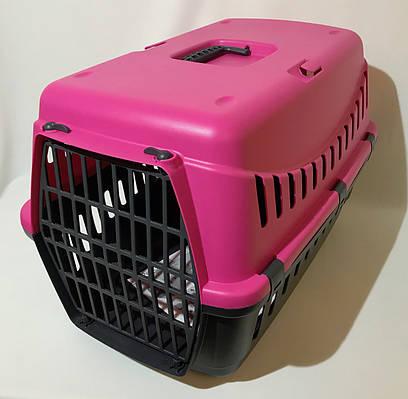 Переноска для собак и кошек Gipsy Large пластиковая дверь розовая