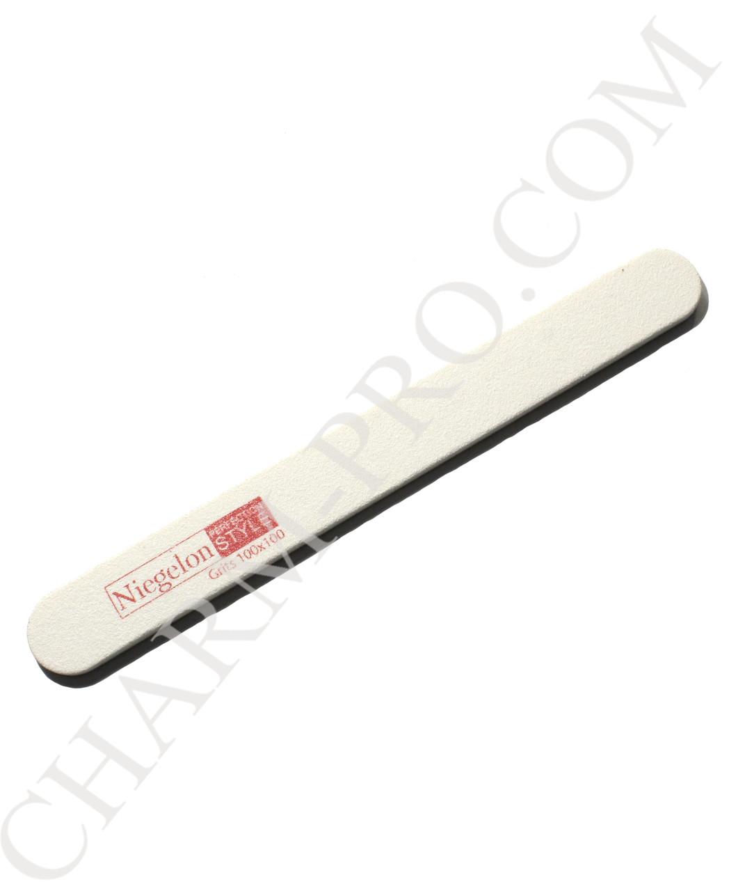 Пилочка Niegelon 100/100 узкая прямая белая