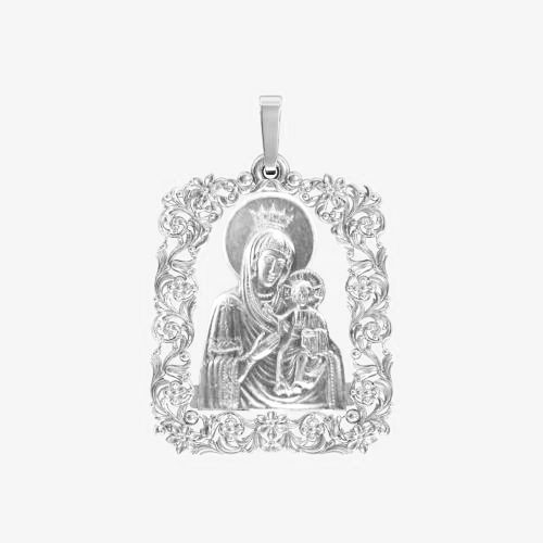 Ладанка серебряная Богородица ЛП-80