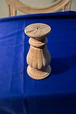 Точеная из дерева ножка круглая c вертикальными валиками. Для мягкой мебели, тумб и кресел. 150 мм, фото 2