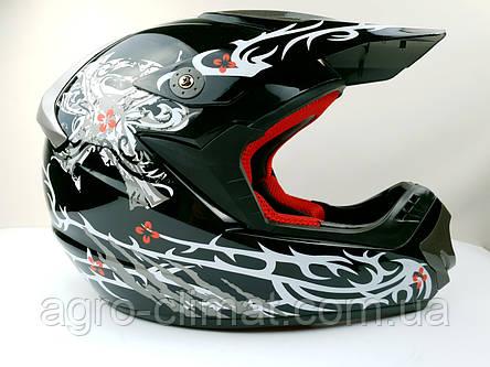 Шлем для мотоцикла Hel-Met 117 черный кроссовый, фото 2