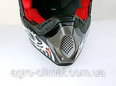 Шлем для мотоцикла Hel-Met 117 черный кроссовый, фото 3