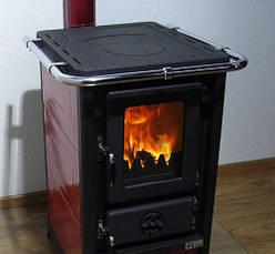 """Печь для дома со стеклом """"Олимп"""" облицовка сталь, фото 2"""