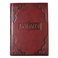 """Подарочная книга """"Библия в гравюрах Гюстава Доре"""" в кожаном переплете"""