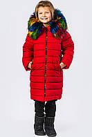 Детская зимняя куртка Алый