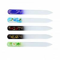 Пилка стеклянная для ногтей ручная роспись 115