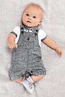 Літній костюм для хлопчиків-немовлят, футболка та комбінезон