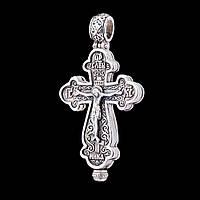 Серебряный православный крестик-мощевик с чернением