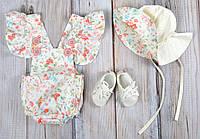"""Комплект одежды для девочек """"Мальта"""", Розы"""