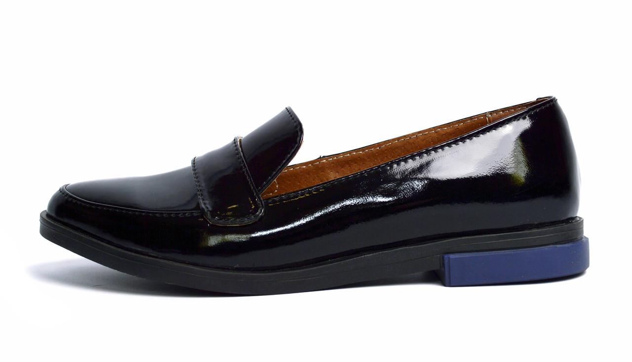 f6e75bca229c Черные лаковые кожаные женские лоферы PAOLO GIANNI -