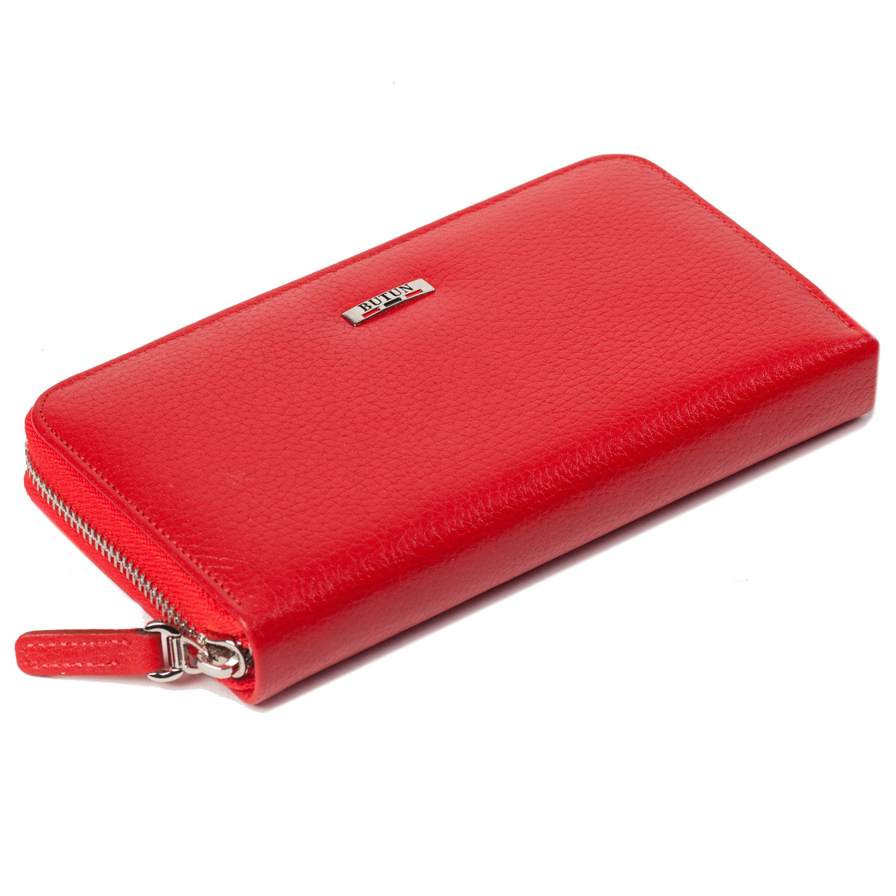 Женский кошелек кожаный красный Butun 639-004-006