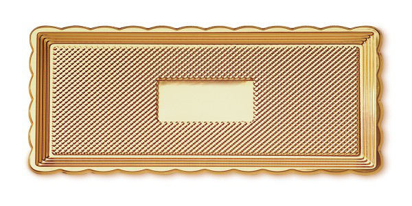 Піднос для торта прямокутний MEDORO 15 х 40 см (018/4)