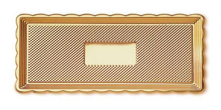 Піднос для торта прямокутний MEDORO 15 х 40 см (018/4), фото 2