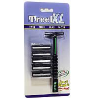 Многоразовый двухлезвийный бритвенный станок «Treet XL ®» T0014