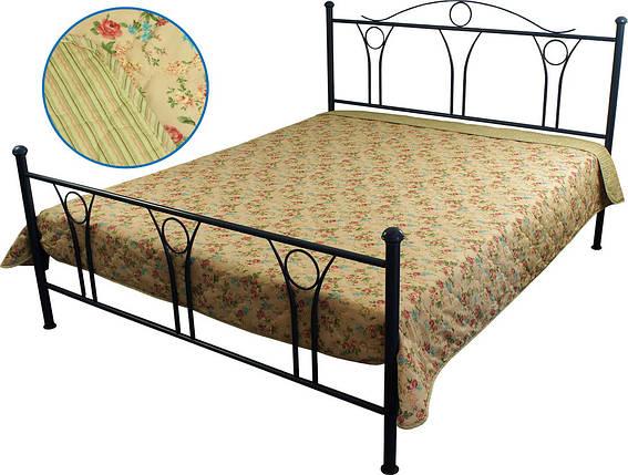 Покрывало на кровать, диван бежевое English style 150х212 см, хлопок, фото 2