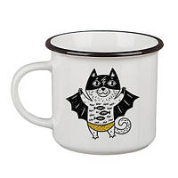"Кружка прикольная чашка керамика ""Кот супермен"" KRC_18J019, фото 1"