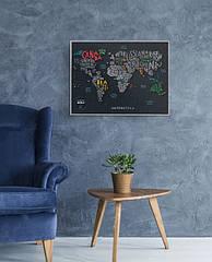 """Скретч мапа світу """"Travel Map Letters World"""" (англ) (тубус)"""