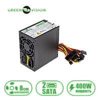 Блок питания компьютерный GreenVision GV-PS ATX S400/8 black