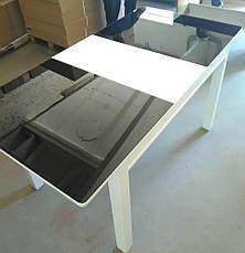 Стол кухонный деревянный со стеклом Сан-Ремо ТМ Биформер,  беж, фото 2