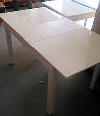 Стол кухонный деревянный со стеклом Сан-Ремо ТМ Биформер,  беж, фото 3
