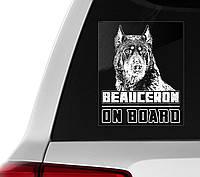 Автомобильная наклейка на стекло Босерон на борту
