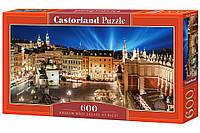 Пазлы Castorland 600 Ночная площадь Краков, B-060306 (размер картинки: 68*30см)